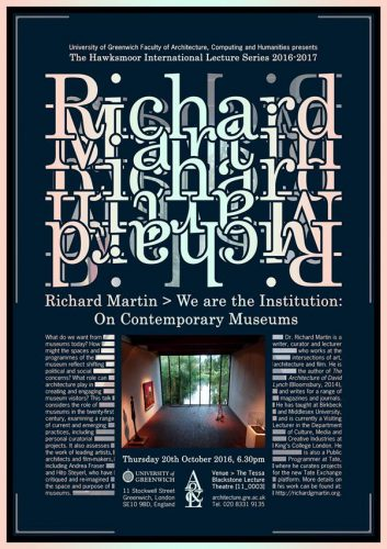 Richard Martin Lecture Poster - Designer: Mike Aling