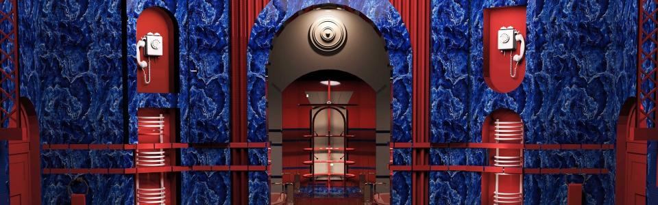Hotel Mollino INteriors — Architectural Rendering by Marilia Lezou