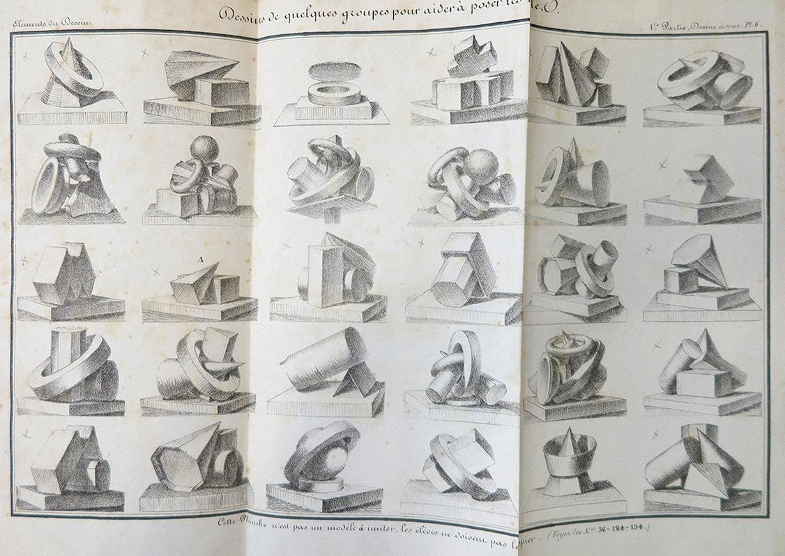Elements du Dessin Marie-Joseph-Bernard Gaillard, 1844. Image courtesy of L'institut supérieur des arts de Toulouse, Archive