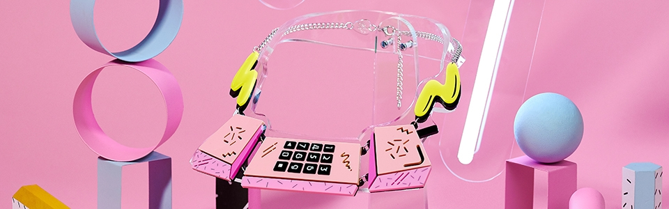 Eighties Phone Necklace, Tatty Devine (detail)