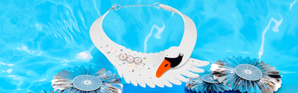 Swan Lake Statement Necklace, Tatty Devine (detail)