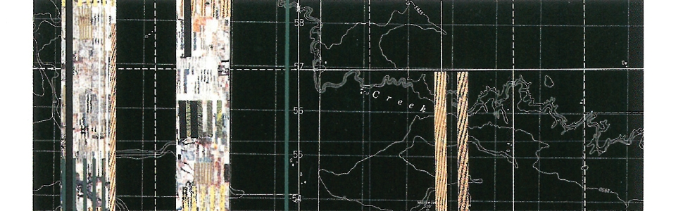 James Corner, Dry Farming Strips (map collage), Montana, 1996